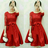 Dress Lace Saten Merry