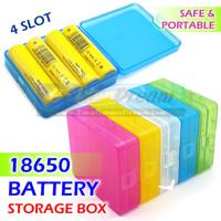 Kotak Penyimpan Baterai 18650 Battery Storage Box 4 Batere Case Vape