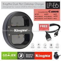 KingMa Charger LP-E6 for Canon EOS 80D 70D 60D 6D 7D 7D2 5D2 5D3 etc