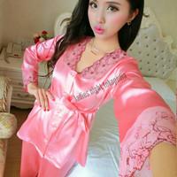 Beauty Xenic Sleepwear Lingerie Set -Atasan + Celana