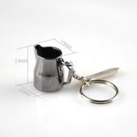 ECOCOFFEE KEYCHAIN / GANTUNGAN KUNCI COFFEE STAINLESS - MILK JUG