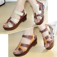 Sepatu Sandal Wanita WEDGES high heel platform MULAN 1741