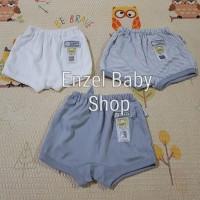 PROMO 1 Set Celana pendek Abu 3 pcs size L / baby FLUFFY / SNI