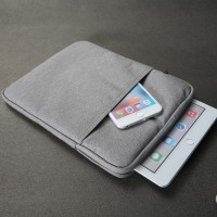 SS9627 - CANVAS SLEEVE BAG POUCH IPAD PRO AIR TABLET 8-10 INCH GREY