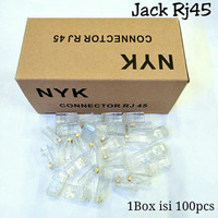 Connector Rj45 NYK isi 100pcs - Konektor Rj 45 isi 100pcs NYK Original