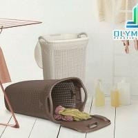 Keranjang Pakaian Plastik Olymplast Laundry Basket Baju Kotor Bersih