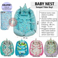 BABYNEST Baby Nest Tempat Tidur Bayi Kasur Bayi Free Perlak Waterproof