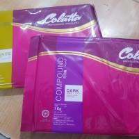 Colatta dark compound 500gr repack potongan / coklat DCC +/- 500gr