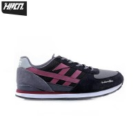 Sepatu Sneakers sport casual hrcn shoes Northern Glow Black Redline