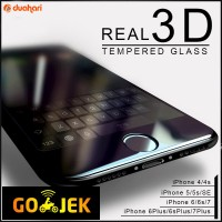 Tempered Glass FULL COVER iPhone 5 6 6s 6s PLUS 7 7 PLUS Screen Guard - Iphone 7, Hitam