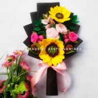 Buket Bunga Florist Flanel Wisuda Ultah cantik