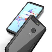 Ipaky OnePlus 5 / 5T - ShockProof Clear Acrylic Armor Slim Case - Hitam, Oneplus 5T