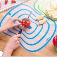Talenan Tipis Anti Bakteri / Alas Pemotong Makanan Dapur PVC / Limited