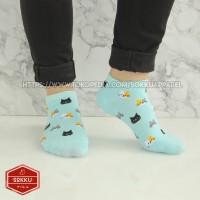 Kaos kaki dewasa cewek mata kaki lucu motif kucing warna warni murah