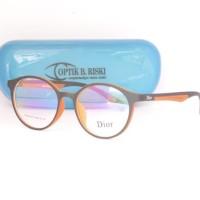 kacamata bulat lentur dior (frame+lensa) D001 pria wanita
