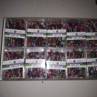 10 box jarum pentul warna warni