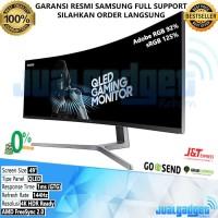 Samsung QLED Curved Gaming Monitor 49 inch C49HG90 144Hz-1Ms-4K-VA-HDR