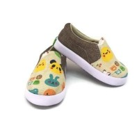 Sepatu Anak Slip On Murah Kanvas Casual Trendy motif kartun