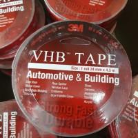 Double Tape 3M VHB 24 mm x 4,5 m / Foam Tape / 3M Merah Original