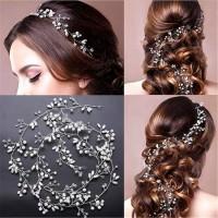 Aksesoris crystal lilit 1meter / accessories wedding hair