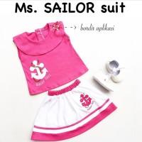 Ms Sailor Set / Setelan Bayi Perempuan / Rok Bayi / Baju Bayi Cewe