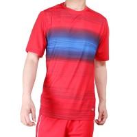 BAJU Olahraga Badminton Baju Bulutangkis MILLS Code: 1003 Red - Merah, S