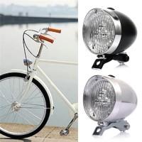 Lampu Depan Sepeda LED Model Klasik / Ontel / Vintage