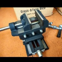 Ragum Cross 3inch 3 inch inci Catok Silang Bench cros Vise mesin bor