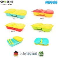 Baby Beyond Dual Bento Box with Fork and Spoon Kotak Bekal Makan Anak