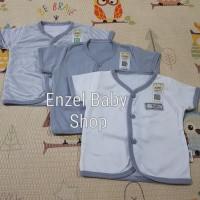 PROMO 1 Set Baju pendek bis Abu 3 pcs size Newborn / baby FLUFFY / SNI