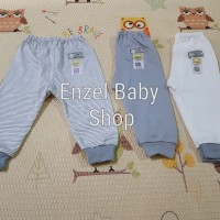 PROMO 1 Set Celana Panjang Abu 3 pcs size L / baby FLUFFY / SNI
