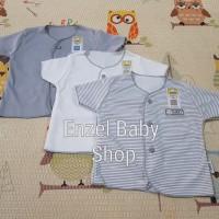PROMO 1 Set Baju Tgn pendek neci Abu 3pcs Newborn / baby FLUFFY / SNI