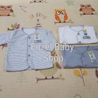 PROMO 1 Set Baju Tgn Panjang neci Abu 3pcs Newborn / baby FLUFFY / SNI