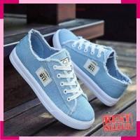 Sepatu Wanita Kets Casual SDS187 - Biru- 37
