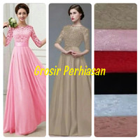 MAXI DRESS / LONGDRESS / BROKAT BRUKAT/ GAUN PESTA / DRESS BANGKOK BKK