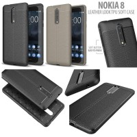 Nokia 8 - Leather Look TPU Soft Case Diskon