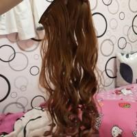 Hairclip Curly 60cm blonde coklat terang