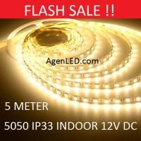 Lampu LED Strip 5050 IP33 12v INDOOR Ledstrip ip 33 Warm White 12 v