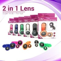 [SALE] LENSA 2 IN 1 SUPER WIDE + FISH EYE - LENSA HANDPHONE COMBO