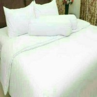 PROMO Sprei Polos Rosewell Putih King Size 180x200 T30cm