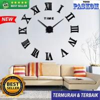 Jam Dinding Raksasa Besar DIY\Giant Wall Clock 80 - 130cm - HITAM