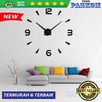 Jam Dinding Raksasa Besar Giant Wall Clock 80-130cm - Hitam