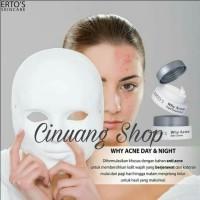 Ertos Why Acne Day Cream Perawatan kulit wajah yg berjerawat original