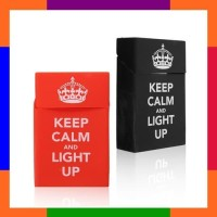 Kotak Rokok Silicone Cover Keep Calm & Light Up