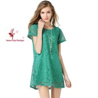 Lace Dress - Dress Rajut Hijau
