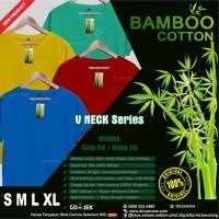 Kaos Polos Katun Bambu (Cotton Bamboo T-Shirt) V Neck