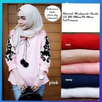 hijab blouse muslim baju wanita kemeja cita blus outfit tunik putih