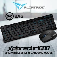 Alcatroz Xplorer Air 1000 - Wireless Keyboard & Mouse