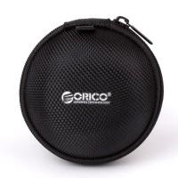 Orico Clamshell Tas Earphone Case Bentuk Bulat PBD8- Black