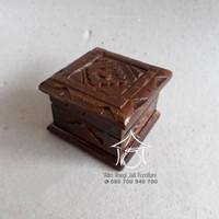 Kotak Cincin Ukir, Tempat Cincin Jati, Souvenir Nikah, Cincin Lamaran